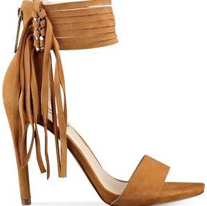 Guess Shoes - GUESS Carlene Fringe Ankle Strap Dress San